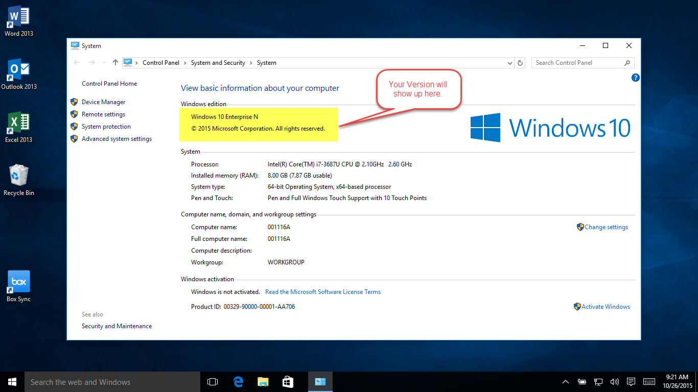 W10 Version Step2